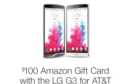 Get $100 Amazon.com Gift Card with LG G3 (AT&T)