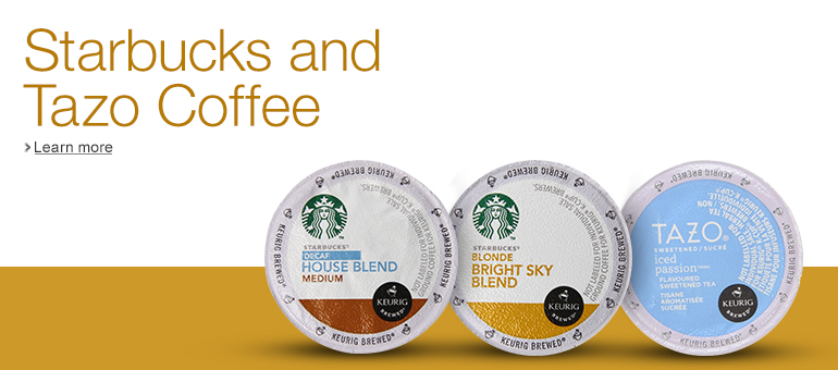 Starbucks, Tazo, and Seattle's Best Coffee