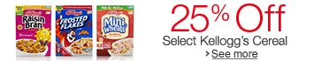 25% Off Select Kellogg's Cereals