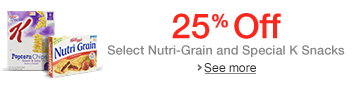 25% Off Select Nutri-Grain and Special K Snacks