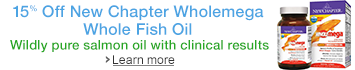 15%off New Chapter's Wholemega Whole Fish Oil