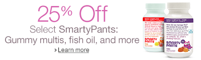 25% off Select Smarty Pants Gummy multis, fish oils and more