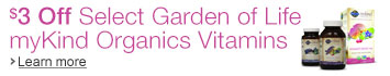 $3 Off Select Garden of Life myKind Organics