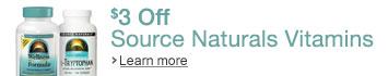 $3 Off Source Naturals Vitamins