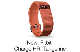 Fitbit Charge HR, Tangerine