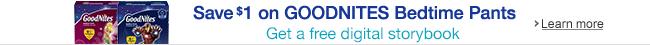 GoodNites - Save $1 & Get a Free Digital Storybook