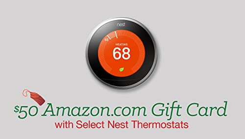 $50 Amazon.com Gift Card with Select Nest Thermostats