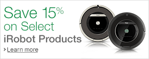 Save 15% on Select iRobot Products