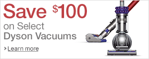 Save up to 25% on Dyson Vacuums