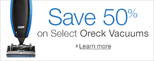 Save 50% on Select Oreck Vacuums