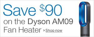 Save $90 on the Dyson AM09 Fan Heater
