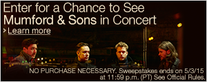Mumford and Sons Concert Sweepstakes