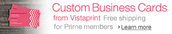 Explore Custom Business Cards from Vistaprint