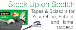 Stock Up on Scotch Tapes & Scissors for Your Office, School, & Home