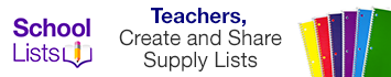Teachers, create and share supply lists