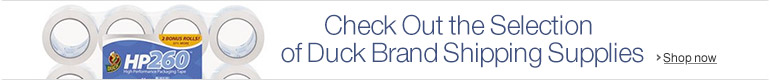 Check out the Selection of Duck Brand Shipping Supplies