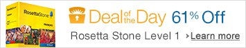61% off Rosetta Stone Level 1