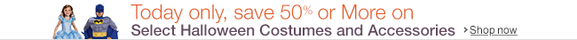 Save 50% or more on Halloween Costumes