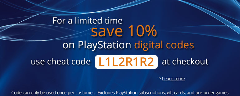 PlayStation 10% off