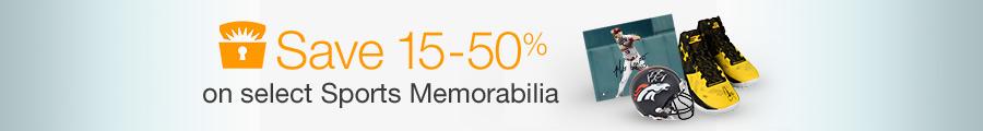 Save 15-50% on Select Sports Memorabilia