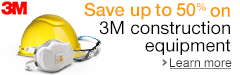 Save up to 50% on 3M protective equipment