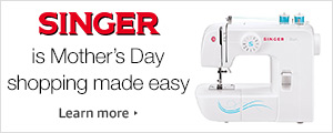 Singer is Mother's Day Shopping Made Easy