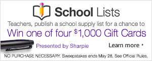 Teachers, create and share supply lists