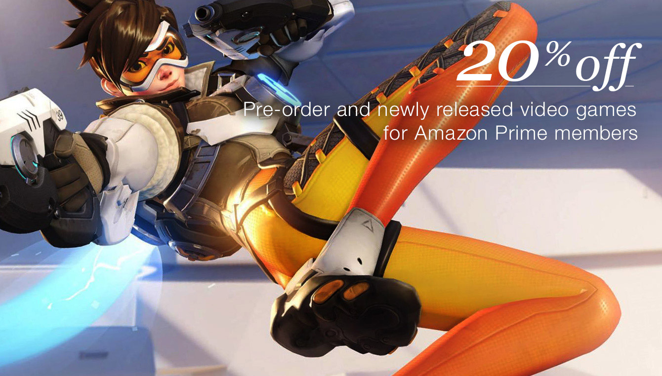 20% off Pre-order and newly released video games for Amazon prime members