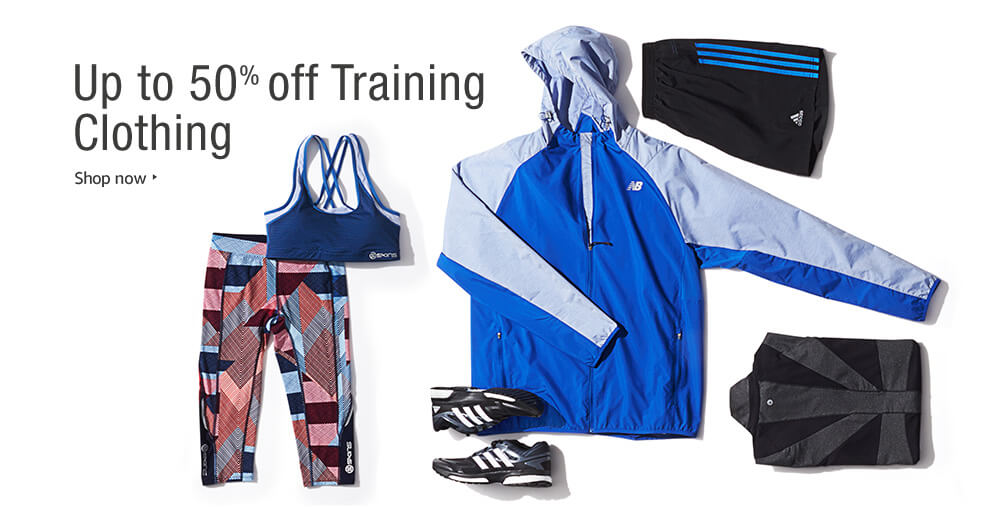up to 50% Off Training Clothing