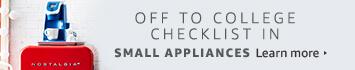 Off to College checklist in Small Appliances