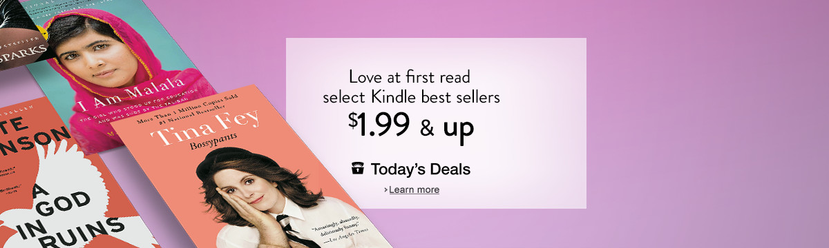 Love at First Read: Select Best Sellers are $1.99 & Up Only