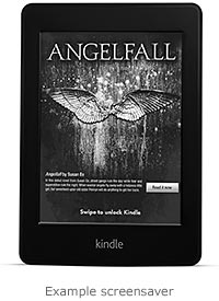 Kindle e-reader: example sponsored screensavers