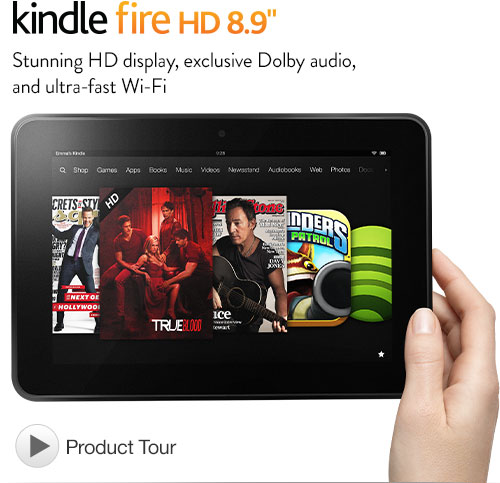 Certified Refurbished Kindle Fire HD 8.9″ Tablet $179