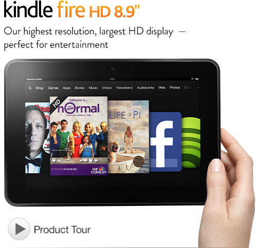 Kindle Fire HD 8.9″, Dolby Audio, Dual-Band Wi-Fi, 16 GB – Includes Special Offers $199