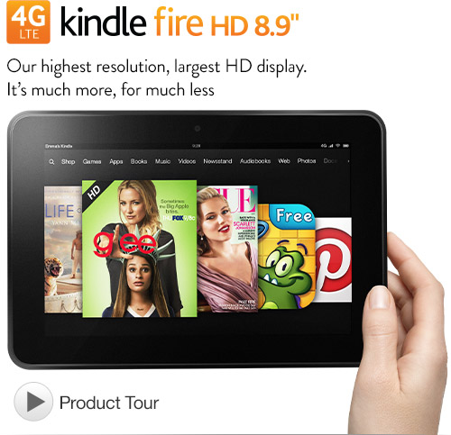 $100 Off for Kindle Fire HD 8.9″ 4G LTE Wireless Tablet (32G $399.00)