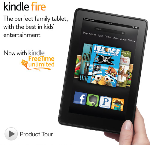 Kindle Fire 7″ 8GB WiFi Tablet w/ Special Offers $129