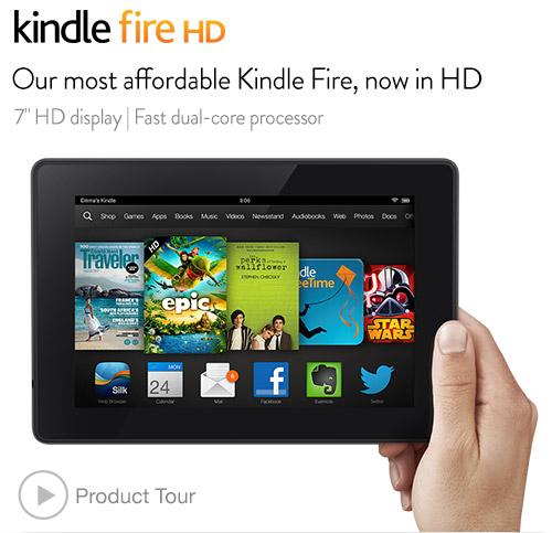 Amazon Cyber Monday促销,Kindle Fire HD $119及Kindle Fire HDX $175,均降$50