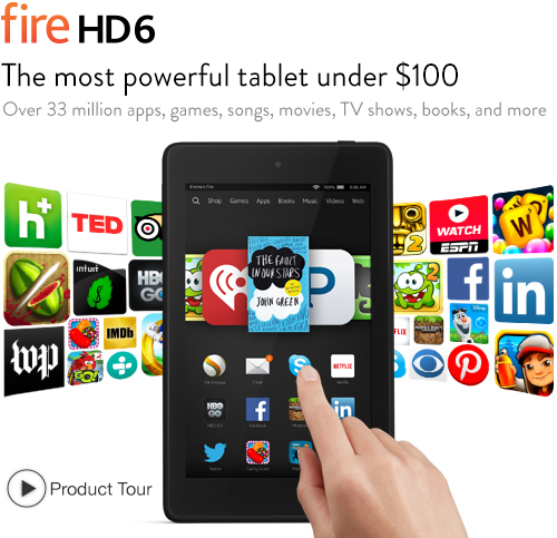Save $15 with this BEST PRICE EVER on a Kindle Fire HD 6 – Five Color Choices!