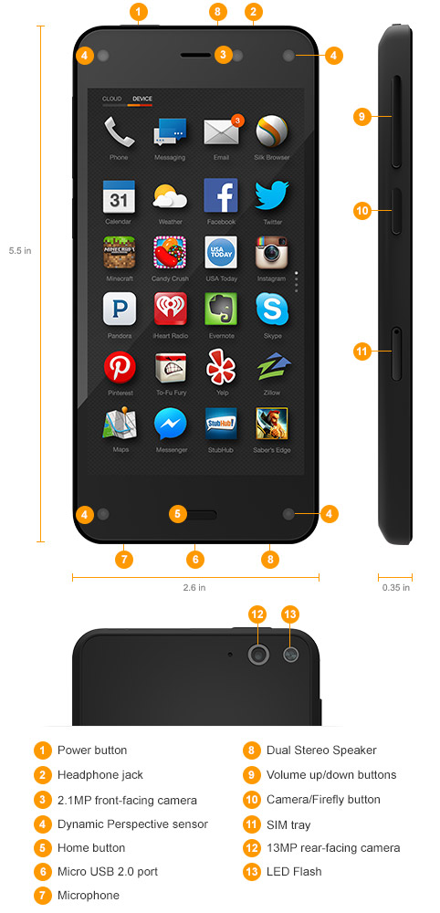 Amazon Fire Phone, 32GB