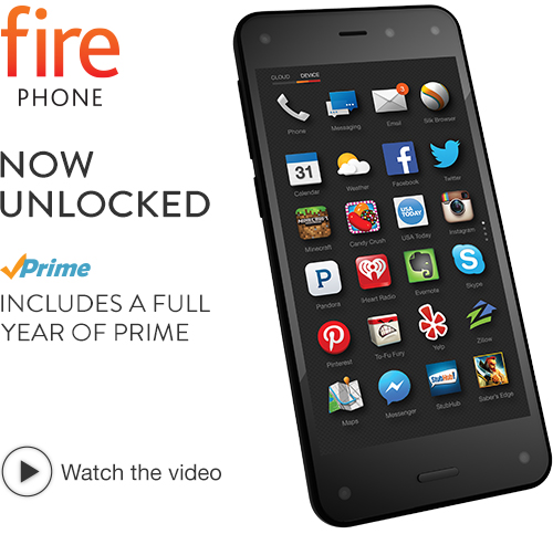 Rent to Own Amazon Fire Phone, 32GB (Unlocked GSM)