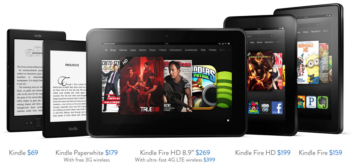 The Kindle Fire Family