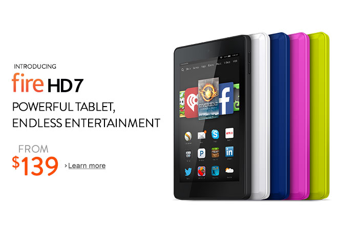 Fire HD 7: Powerful tablet, endless entertainment