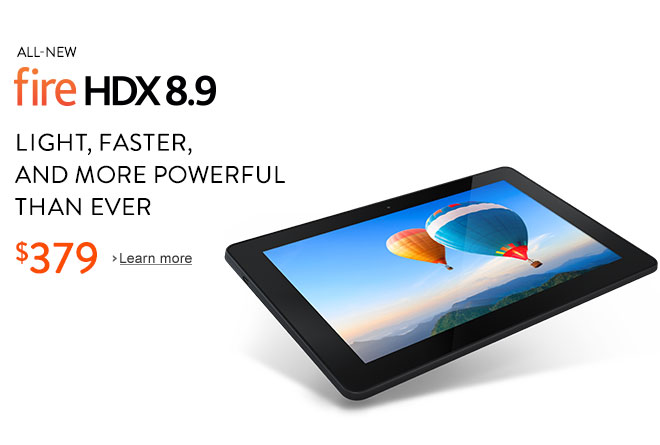 All-New Fire HDX 8.9: Our most powerful tablet ever