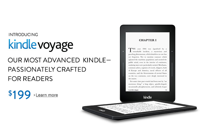 Introducing Kindle Voyage: Our most advanced Kindle, passionately crafted for readers
