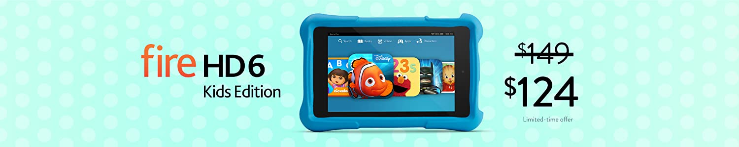 $25 Off Fire HD 6 Kids Edition
