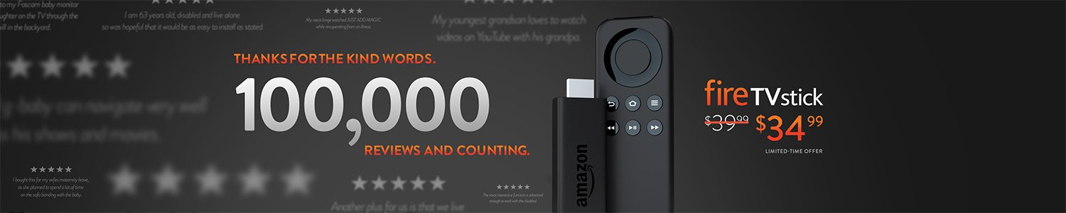One day only: Fire TV Stick for $34.99