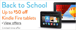 Up to $50 off Kindle Fire tablets