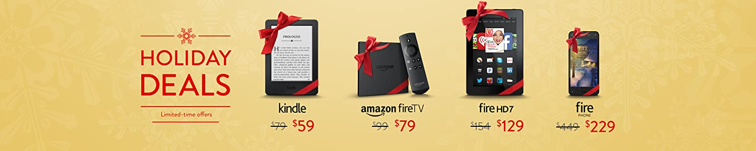 Holiday Deals in Fire and Kindle