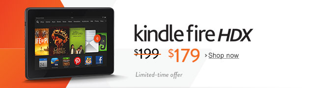 $20 off Kindle Fire HDX