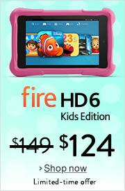 $25 Off Fire HD 6 Kids Edition